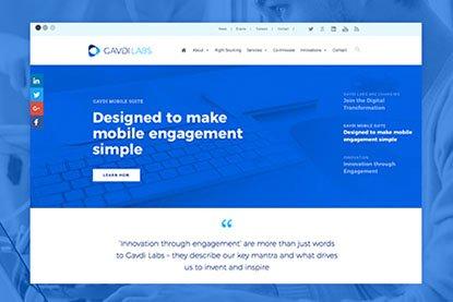 Design og udviklig af website